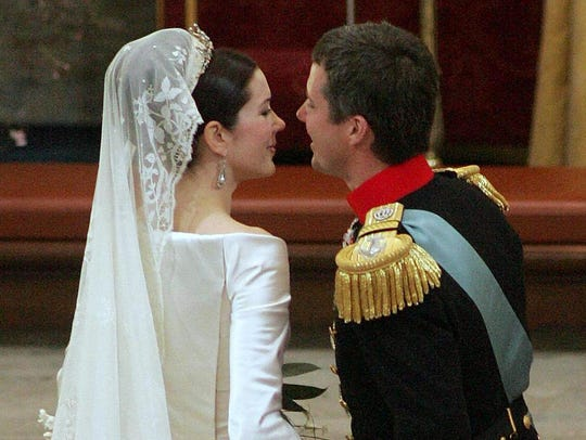 Crown Prince Frederik of Denmark receives his bride