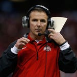 Ohio State coach Urban Meyer is seen during the Sugar Bowl on Jan. 1 in New Orleans. The NCAA football rules committee wants to experiment with new sideline technology.
