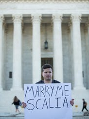 Same-sex marriage supporter Ryan Aquilina, of Washington,