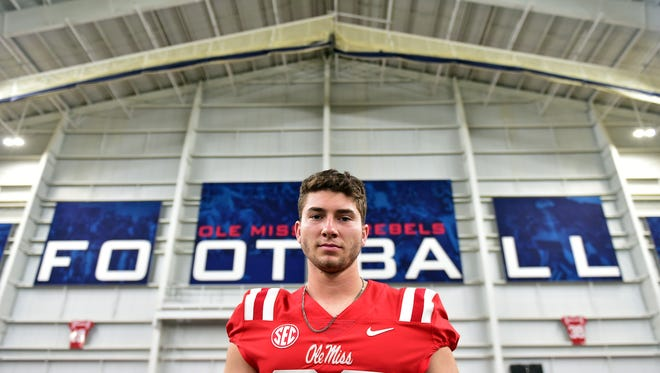 Quarterback Shea Patterson at Ole Miss media day August 2, 2017.