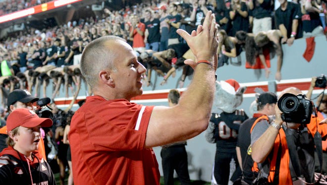North Carolina State Wolfpack head coach Dave Doeren.