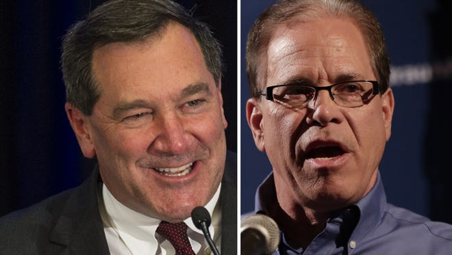 U.S. Senate candidates Joe Donnelly (left) and Mike Braun.