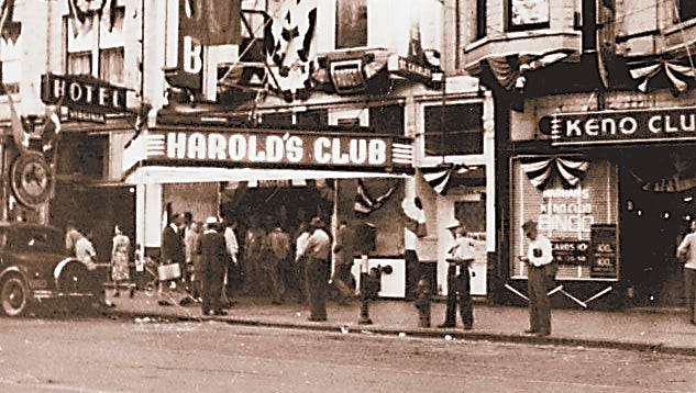 Harolds Club in the early days of legalized gaming in Nevada. photo courtesy Neal Cobb collection.