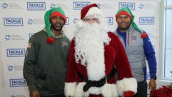 David Tyree; Santa; Antonio Pierce. Breakfast with