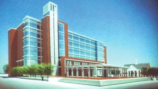 This rendering shows what the $73 million Rutherford County Judicial Center is supposed to look like when it opens June 2018 on the north side of Lytle Street and east side of Maple Street between Lytle and Burton Street in the downtown area of Murfreesboro.
