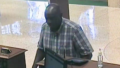 The FBI said this man robbed the U.S. Bank branch on Market Street on Thursday afternoon. The man entered the branch and passed a note to the bank teller demanding cash, police said. The man left on foot, and no one at the bank was injured, according to the press release.