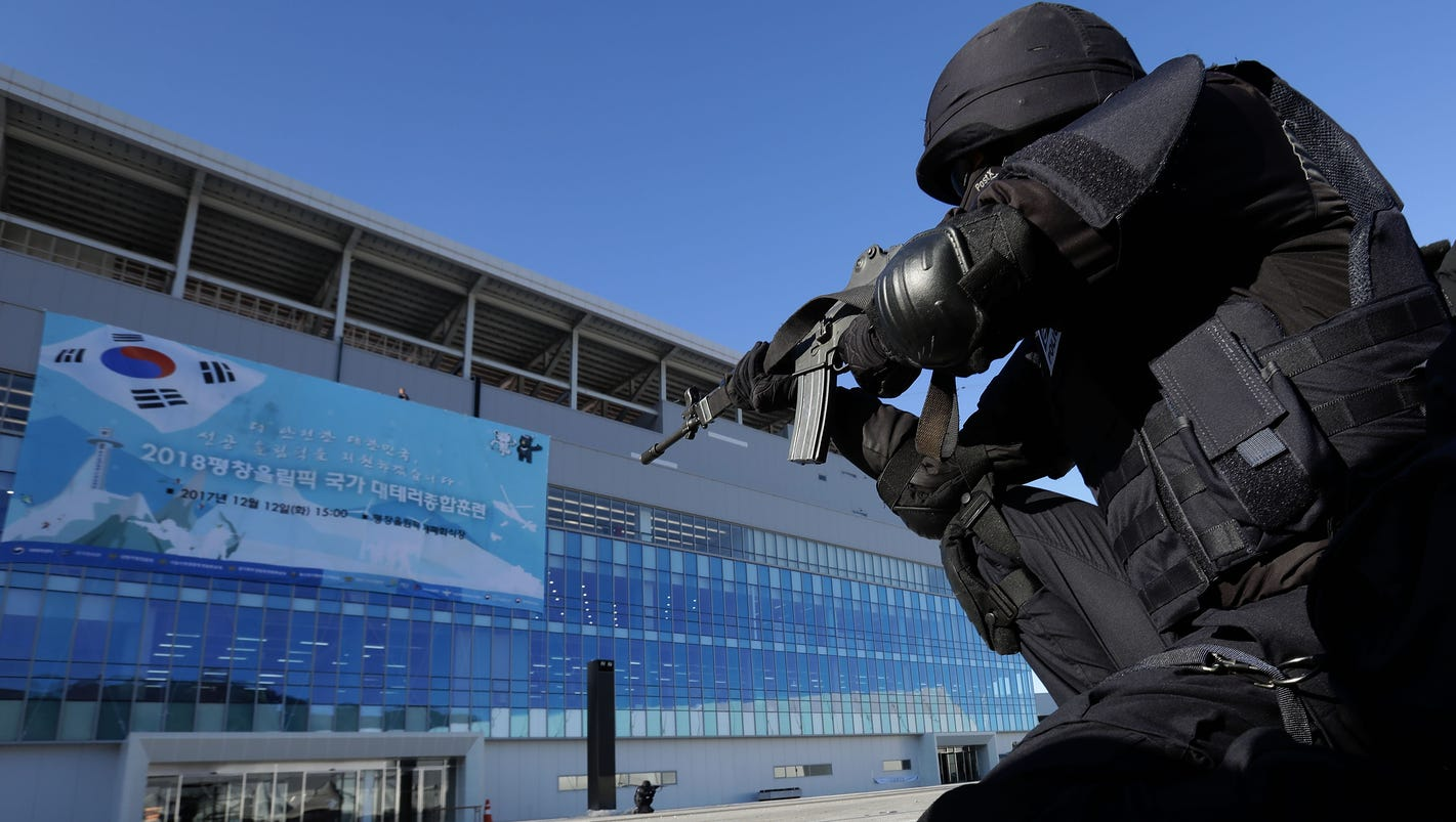 South Koreans drill for Winter Olympic security