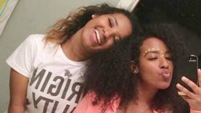 Twin sisters Bana (left) and Yohana Geordis were in a car crash Oct. 14, 2016, that killed Yohana and left Bana severely injured.