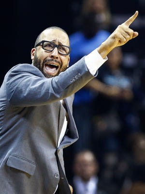 Memphis Grizzlies head coach David Fizdale during second quarter action against San Antonio Spurs in the sixth game of their NBA first round playoff series at the FedExForum.