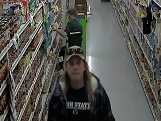 The pictured male (long blond hair) shoplifted food items at BG's Market in Jonestown. If anyone recognizes the suspect, please contact Pennsylvania State Police in Jonestown 717-865-5067.