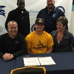 Livonia Stevenson running back Austin Petrie signed a Letter of Intent to play college football for Valparaiso University in Valparaiso, Ind.