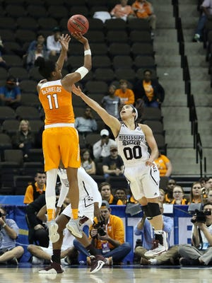 Guard Diamond DeShields, who transferred to Tennessee from North Carolina, leads the Lady Vols in scoring.