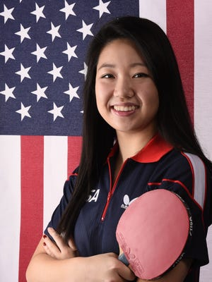USA table tennis athlete Lily Zhang poses for a portrait during the 2016 Team USA Media Summit at Beverly Hilton.