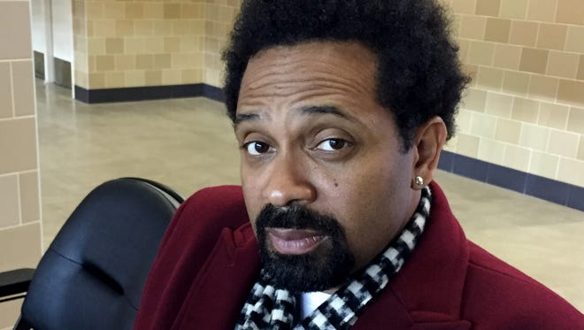 Mike Epps is seen in the concourse of Farmers Insurance Coliseum, where he will perform on Feb. 13.