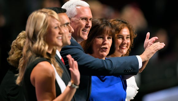 Republican vice presidential nominee Gov. Mike Pence