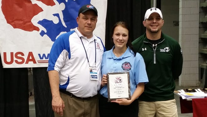 Mitchell alum Eve Duncan was named the N.C. USA Wrestling Volunteer of the Year over the weekend.