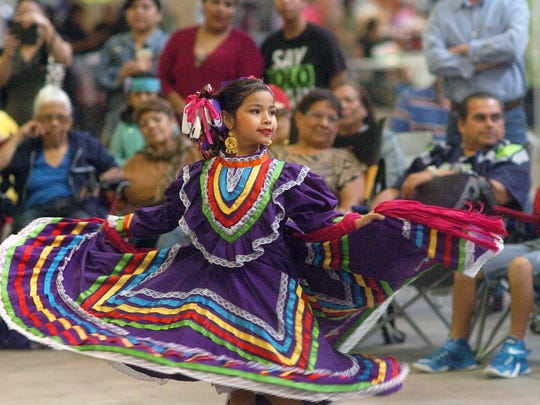Mariela Garcia, 6, dances for the Alcorta's Compania de Danza Folklorica in 2014 during the Hispanic Festival at the Richard M. Borchard Regional Fairgrounds in Robstown.