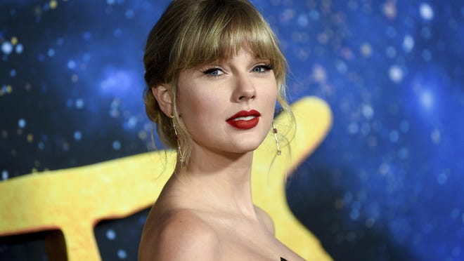 "Singer-actress Taylor Swift attends the world premiere of ""Cats"" at Alice Tully Hall on Monday, Dec. 16, 2019, in New York."
