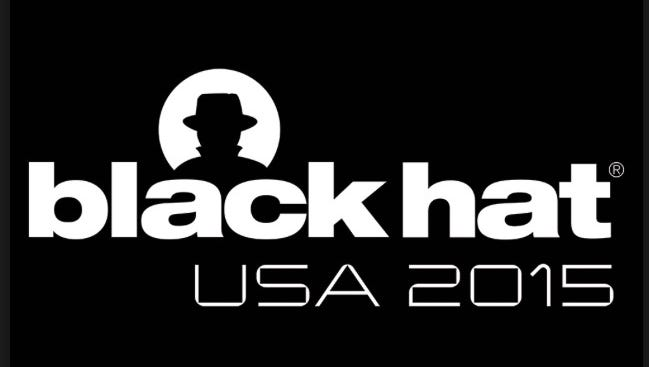 The logo of the 2015 Black Hat computer security conference, held in Las Vegas Aug. 4 - 6, 2015.