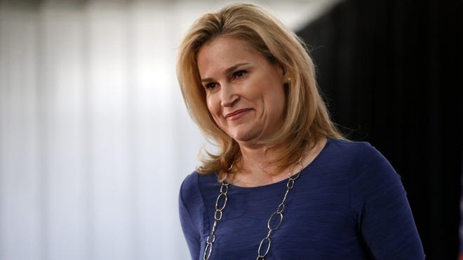 Heidi Cruz, the wife of the presidential candidate Ted Cruz, is making two campaign appearances today in New Jersey, including at iPlay America on Route 9. (File photo)