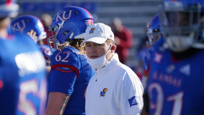 Les Miles and Kansas football finished the 2020 campaign with an 0-9 record, just the third winless season in program history.