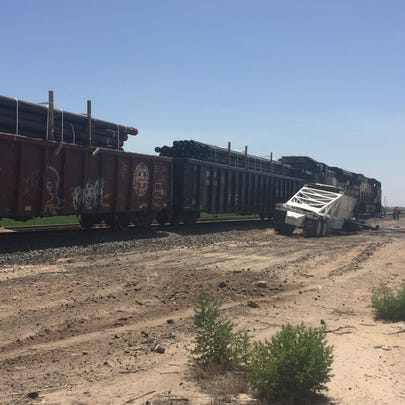 A BNSF engine reportedly struck a semi truck July 18