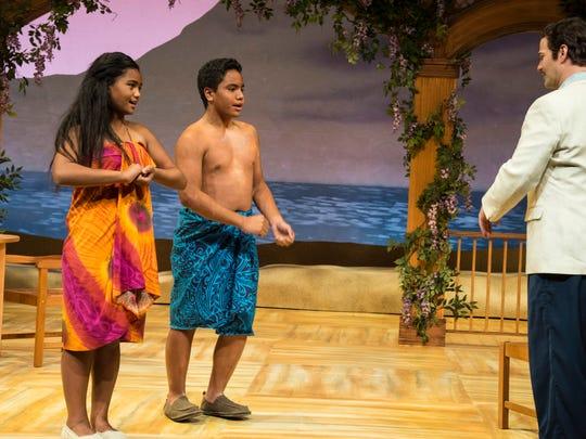 Tava Maddison LaRaine Lutui (left) is Ngana, and Jonah