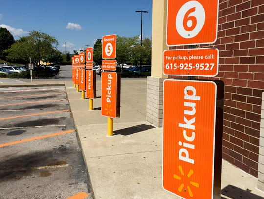 Walmart has allocated parking spaces for online grocery-pickup
