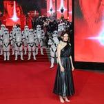 Scenes and stars from 'The Last Jedi'