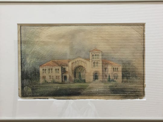 Early designs for the Hardin College building which