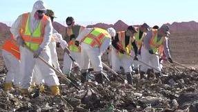 A landfill...a graveyard.