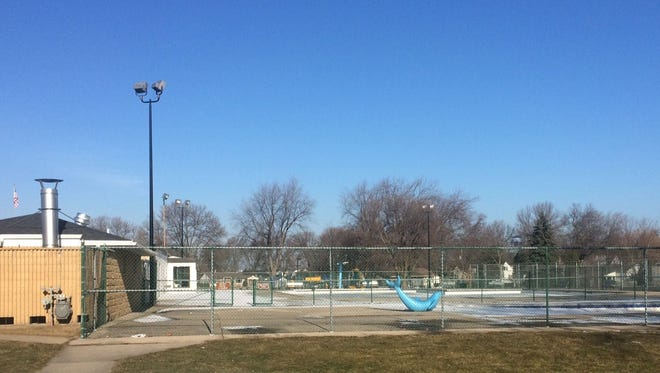 The swimming pool at VFW Park on De Pere's west side. The city's park board favors that park as the location for a planned outdoor aquatic center to replace the two aging swimming pools at VFW and Legion Park on the east side.