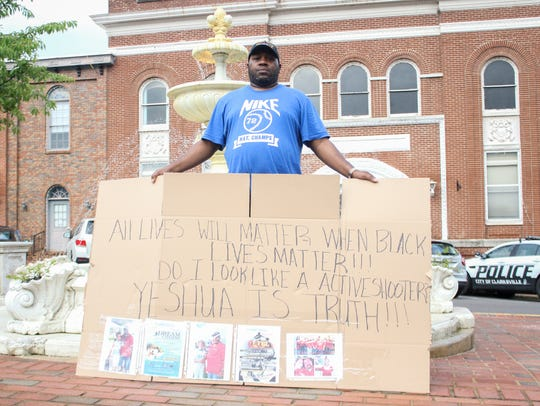 Joseph Bailey organized a peaceful protest in front