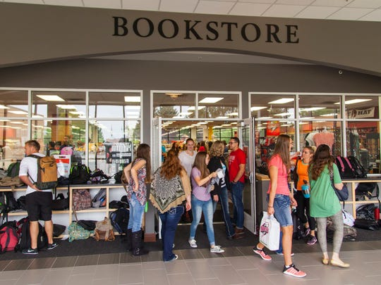 Southern Utah University students visit the campus bookstore on the first day of classes, Monday, August 22, 2016.