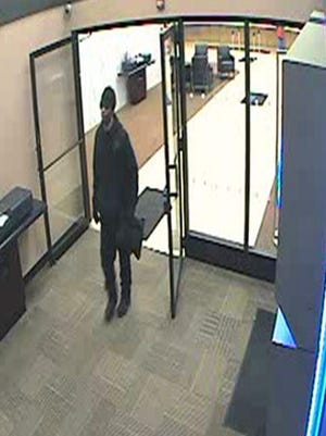 Police are searching for the man accused of robbing Chase Bank on Jan. 5, 2017.