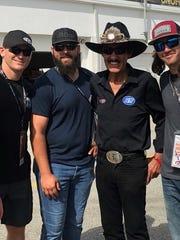 Matthew Rosenhamer, Michael Fulmer, Richard Petty and Zac Reininger at Daytona International Speedway