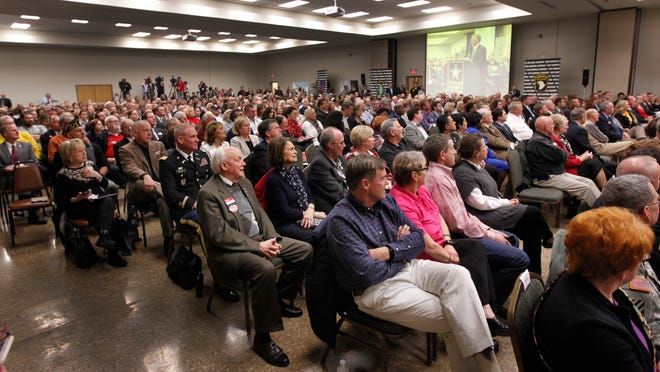Over 700 people filled the Fort Campbell's Family Resource Center Tuesday evening during the listening session. The Army representatives from Washington, D.C., led by Brig. Gen. Roger Cloutier, heard from local leaders about why Fort Campbell does not need to be reduced in its numbers.