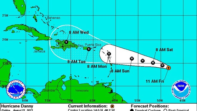 Hurricane Danny is now a Category 3