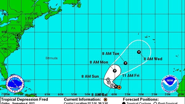 Fred, as of Friday, Sept. 4