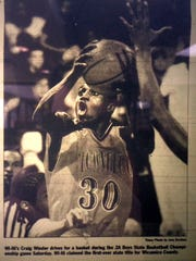Wi-Hi guard Craig Winder is is featured in a photo in a 2002 edition of the Daily Times.