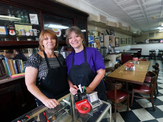 On Oct. 1, 2014, Tammy Greer, left, and Teresa Kellogg are the new owners of Rutherford County's oldest restaurant, the City Cafe.