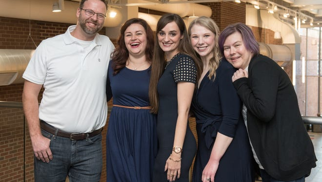 From left: Kidney donor Todd Ramsdell, 40, of Kalamazoo, and his recipient Shannon Brink, 31, of Macomb Township, Mich.; donor Sarah-Rae Andrewski, 31, of Iron Mountain, Mich., who donated to a woman in Seattle, Wash.; donor Kara Dandar, 33, of Bemidji, and her recipient Emily King, 39, of Kalamazoo, Mich.