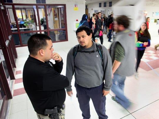 Ignacio Enriquez Jr., a school resource officer at