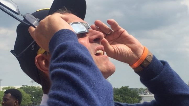 Jim Harbaugh, Wolverines soak up eclipse 'phenomenon'