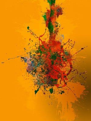"""Wayne Charles Roth's """"Bleed,"""" digital painting."""