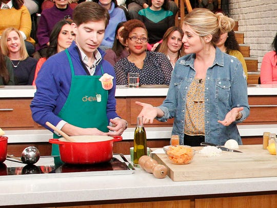 "Aaron Johnson shows ""The Chew"" audience how to make"