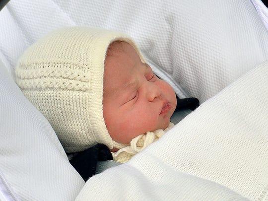 The newborn baby princess, born to parents Kate, Duchess