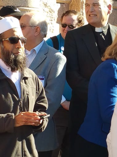 """""""Never in my dreams did I think this many people would show up,"""" said Mohamed-Umer Esmail of the Nueces Mosque in Austin."""