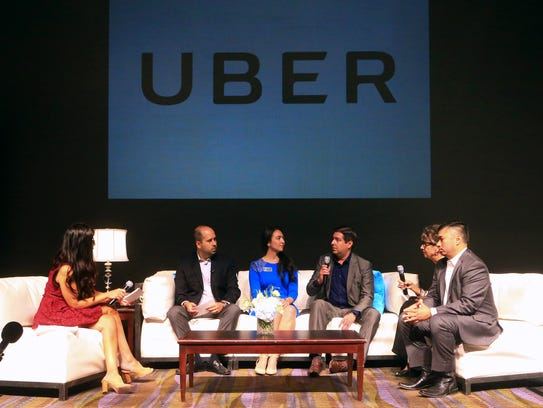 Corpus Christi City officials and Uber officials talk