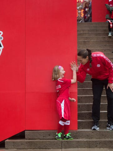 Canadian national women's soccer team goalie Erin McLeod,